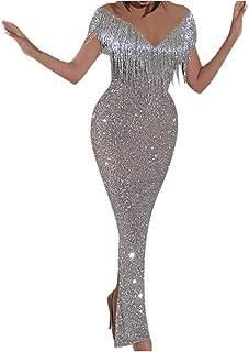 comprar comparacion ZODOF Mujere Vestido Ajustado Atractivo del Partido del Club De Las SeñOras Negro Vestido De Mini Vestido De Encaje Largo ...