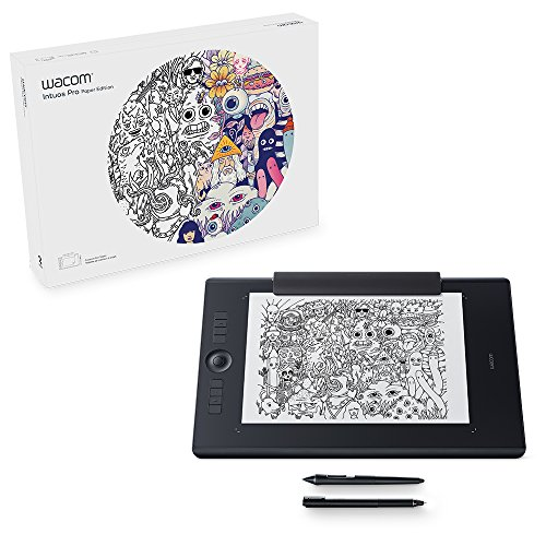 Wacom (Pth860P) Intuos Pro Paper Edition Digital Graphic Drawing Tablet For Mac Or Pc, Large, New Model, Black