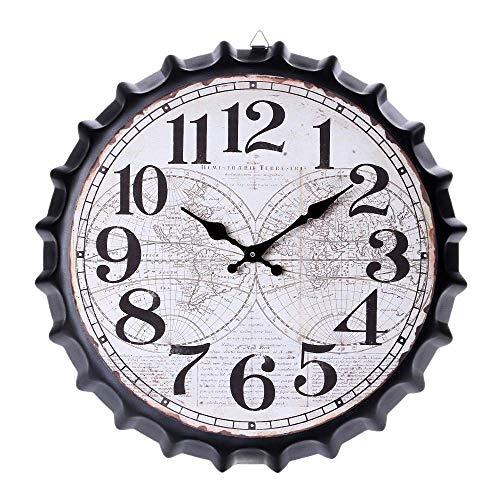 DXX-HR Moderno reloj de pared decorativo, silencioso, de calidad, funciona con pilas, para decoración del hogar, oficina, color negro