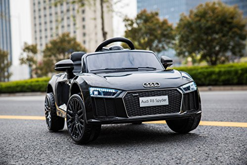 RC Kinderauto kaufen Kinderauto Bild 1: Kinderelektroauto - Audi R8 - 2 Motoren - Kinderfahrzeug Lizenz Fernbedienung - Schwarz*