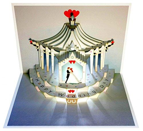 Forever Handmade Pop Up Hochzeitskarte - edel und elegant mit verblüffender Wirkung beim Öffnen. GP100