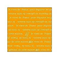 株式会社東光 PAOTOKO OPマットフィルム 140角(フランス)OR 500枚 オレンジ ケーキフィルム サイドフィルム ケーキシート シート 敷き紙 包み紙 手作り ケーキ 生菓子 パン 販売 業務用 RC181276