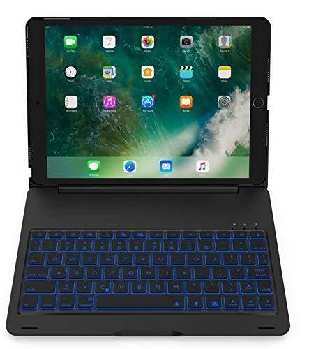 Aidashine iPad 24,6 cm (9,7 inch) toetsenbord (iPad 6, 2018 / iPad 5, 2017), ultradun bluetooth-toetsenbord met folie-beschermhoes, 130 graden draaibaar, blue