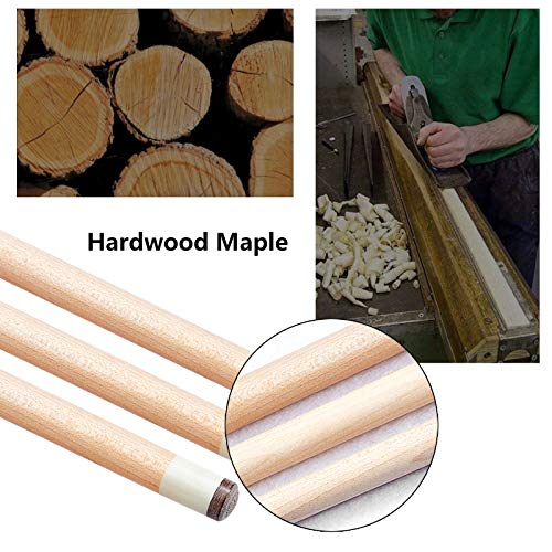 LMDX Bar Billiard Cue Sticks - 2-piece Maple Pool Sticks, 147cm, Strong And Straight, For Sports And Fitness Game, Handmade Classic, Solid Wood Pattern, Unisex Snooker Cues