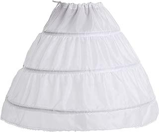 Girls' 1 2 3 Hoops Petticoat Full Slips Flower Girls Crinoline Skirts Ball Gowns 1-12 Year Old