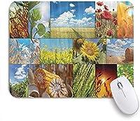 PATINISAマウスパッド 素朴なひまわりトウモロコシ小麦クール ゲーミング オフィス最適 高級感 おしゃれ 防水 耐久性が良い 滑り止めゴム底 ゲーミングなど適用 マウス 用ノートブックコンピュータマウスマット