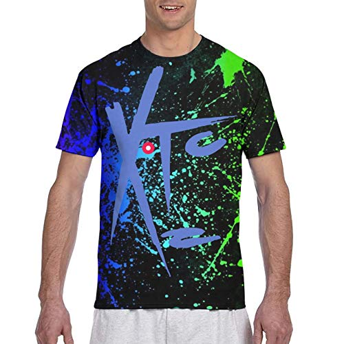 XTC-Drums and Wires Mens Short Sleeve S-3XL Tee Tops 3D Print Fitness Classic Tshirts L