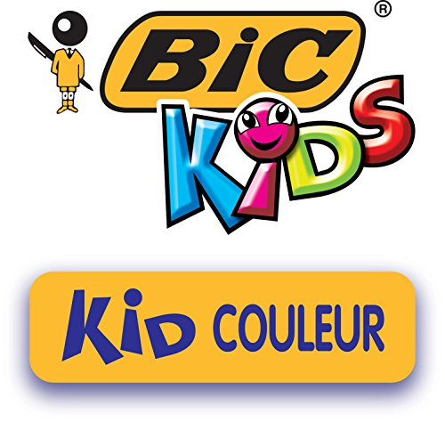 BIC Kids Kid Couleur Felt Tip Pens, Assorted Colours, Pack of 12 - Medium Point Washable Pens for Kids Arts and Crafts