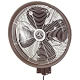 Hydromist F10-14-022 Outdoor Fan, 18 Inch, Dark Brown
