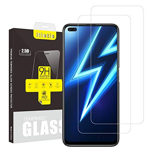iTieTie 2 Packs Realme 6 PRO / X50 5G Screen Protector, Bubble Free, High Definition, Anti-Scratch, 9H Hardness, Tempered Glass Screen Protector for Realme 6 PRO