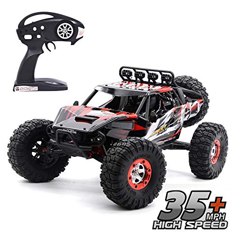 Brushless High Speed RC Car, Keliwow 1/12 Scale 4WD 35 MPH High Speed Off-Road RC Truck 2.4Ghz Rock Crawler RTR Desert-7 (#07-Red) ¡