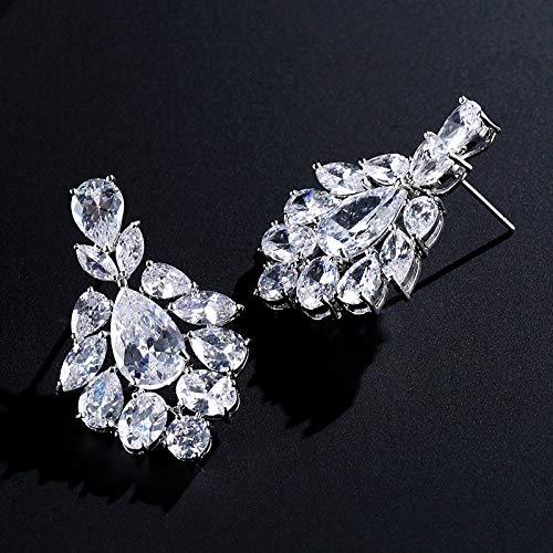 nobrand Pendientes para mujer, elegantes circonitas cortadas, gotas de agua de alta calidad, para bodas, cenas, fiestas, regalo