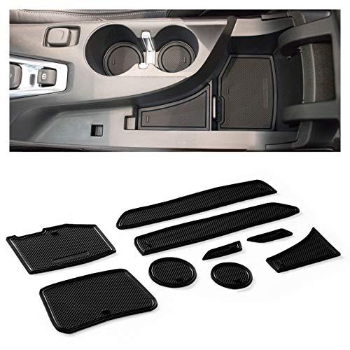CupHolderHero for Chevy Camaro Accessories 2016-2022 Premium Custom Interior Non-Slip Anti Dust Cup Holder Inserts, Center Console Liner Mats, Door Pocket Liners 9-pc Set (Solid Black)
