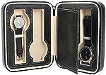 Mantello 4 Slot Leather Portable Travel Watch Case Storage Organizer