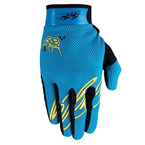 Born 2B Awesome Maniac RACEWEAR leichte Handschuhe Mountain Bike Downhill Enduro Motocross Freeride DH MX MTB BMX Quad Cross, schnelltrocknend, rutschfest und atmungsaktiv, Farbe Neon Blau, Größe XL