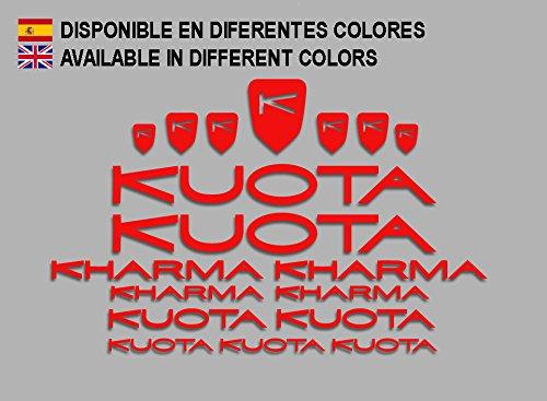 Ecoshirt LD-I9IA-PMEI Adesivi Kuota Kharma Frame Set Bikes F152 Stickers Aufkleber Decals Autocollants Adesivi MTB BTT, Rosso