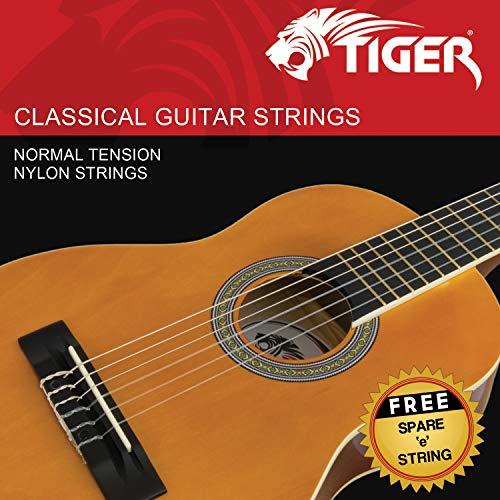 Tiger Music klassischen Gitarre Saiten – Normal Tension Nylon Saiten – Anti Rost