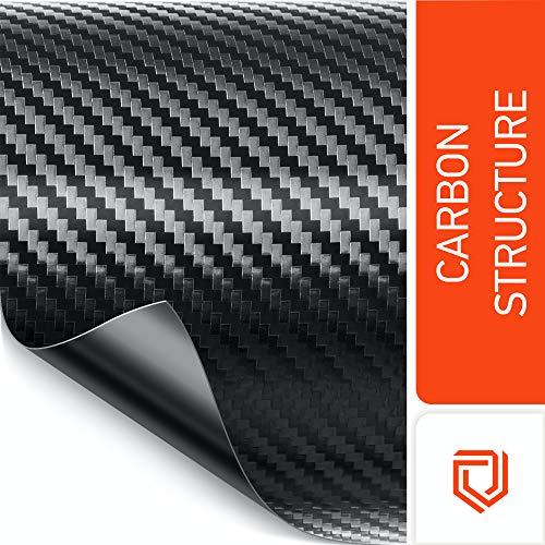 Luxshield Carbon Folie 12x100cm für Auto, Motorrad, Bike - selbstklebend, Meterware aus DE