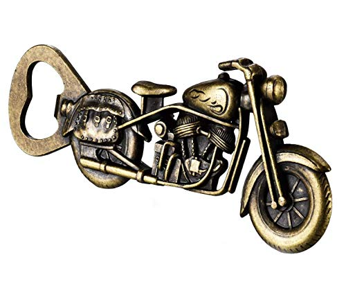 VSILE Motorcycle Beer Gifts for Men Dad Husband,Vintage Motorcycle Bottle Opener,Christmas Presents Stocking Stuffers,Birthday Beer Gifts Ideas for Him Grandpa Boyfriend,Cool Gadgets,Unique Beer Gifts