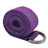 Liujiami Yoga Correas Algodon Pilates Cinturón Ajustable 183cm Fitness Gimnasio Banda Hogar Gym Entrenamiento Ejercicio Estiramientos Accesorios