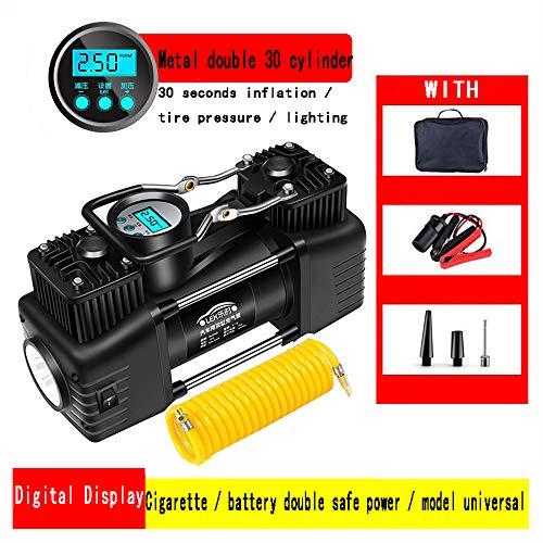QDY Bomba infladora de neumáticos con barómetro Digital/Puntero portátil Bomba Inflable de...