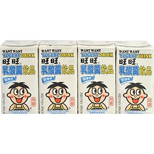 Want-Want Yogurt Beverage, 4.2 Fluid Ounce (Pack of 9) 36 count