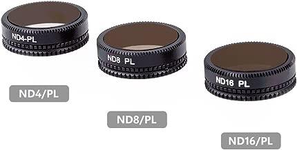 Raykool DJI Mavic Air ND Filters Set ND4/PL ND8/PL ND16/PL, Lens Filters with Polarizer for DJI Mavic Air 4K Camera