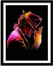 5D Pintura Diamante Painting Kit DIY Taladro Completo Michael Jackson Adultos Niño Punto Cruz Cuadro Grande Puzzle Rhinestone Bordado Art Home Pared Decor Manualidades 50x60cm C1775