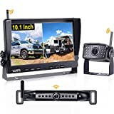 Wireless Backup Camera for RV AMTIFO 10.1'' Monitor with 2 Wireless Rear View Cameras HD 1080P System for Trailers,5th Wheels,Support Add UP to 4 RV Cameras,Recording Function - A10