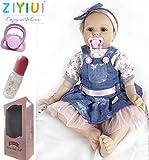 ZIYIUI Muñecos Bebé Reborn Niña 22 Pulgadas 55cm Silicona Suave Vinilo Vida Real Realista...