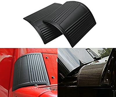Sunluway® 2015 Latest Durable Black Cowl Body Armor - Pair For Jeep Wrangler Rubicon Sahara Jk & Unlimited 2007-2015