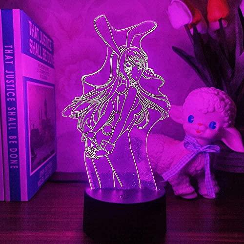 Geizland 3D niños luz de la noche americana LED luz niños táctil lámpara de mesa niña bebé dormitorio sueño fiesta de cumpleaños regalo vacaciones n164