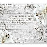 murando - Fototapete Blumen Lilien 300x210 cm - Vlies Tapete - Moderne Wanddeko - Design Tapete - Wandtapete - Wand Dekoration - Holz Blume Ornament b-A-0170-a-b