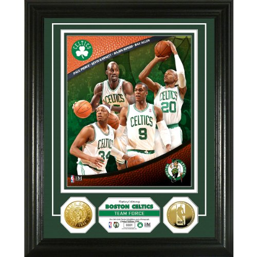 Boston Celtics Team Force 24KT Gold Coin Photo Mint