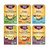 Yogi Tea - Digestion and Detox Tea Variety Pack Sampler (6 Pack) - 96 Tea Bags Total