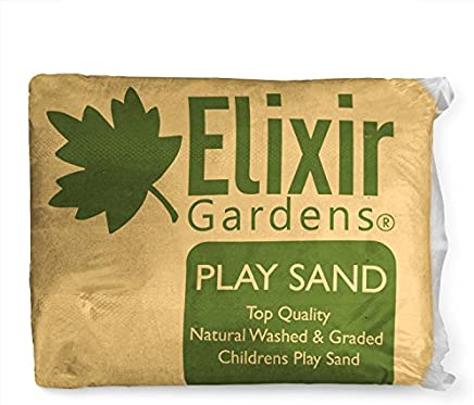 Elixir Gardens  1 x 25kg Play Sand Washed & Graded Non Toxic - Tested to BS EN 71-3 BS EN 1177 PRIME
