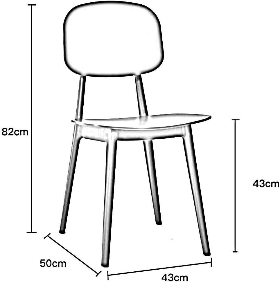 DSHUJC Chaise de Salle à Manger en Plastique, Restaurant Moderne Chaise Loisirs Chaise Dossier Restaurant Cuisine 43X50X82cm (Couleur: Blanc) Black