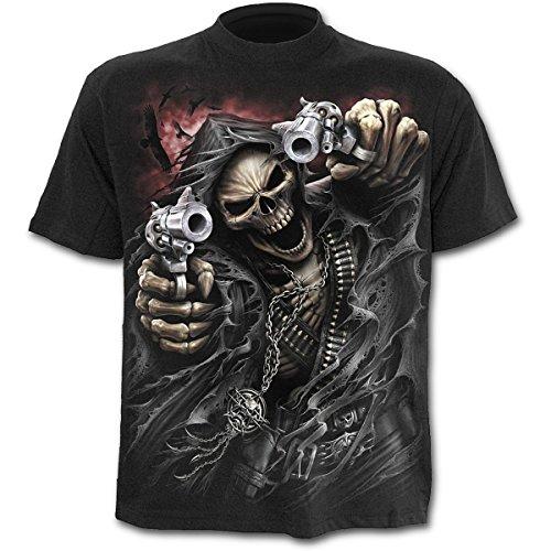 Spiral Assassin T-Shirt Fantasy Biker Style, Grösse:L