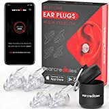 High Fidelity Silicone Ear Plugs - 2 Pairs - for Noise Reduction & Hearing Protection - Reusable Ear Plugs with Aluminum Carry Case - Perfect for Musicians, Concerts, Motorcycles and Loud Noise