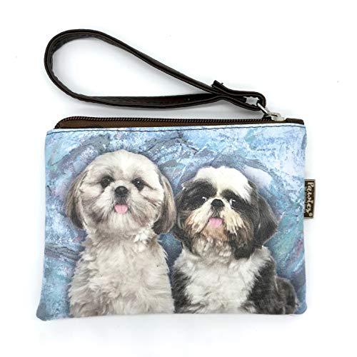 Shih Tzu coin Purse, Shih Tzu, Vegan leather coin purse, Vegan Leather, Wristlet coin purse, Animal Lovers, Dog Lovers