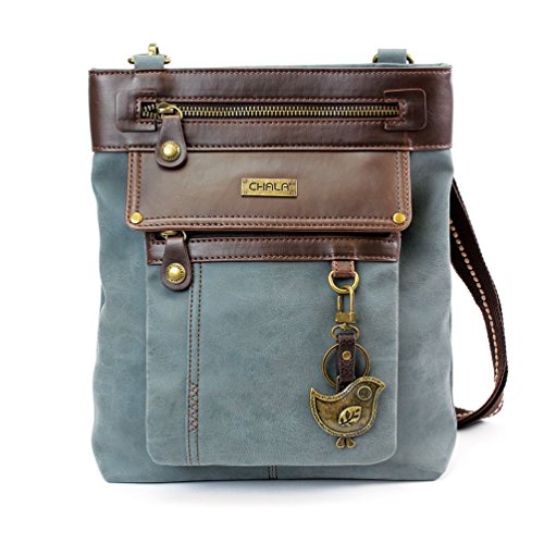 Chala GEMINI Crossbody Canvas Gift Messenger Bag Indigo - Chichik Bird