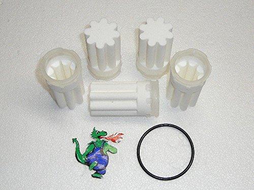 5 Filter Filtereinsatz Ölfilter Heizung Siku 35 µm weiß Ersatzfilter weiss