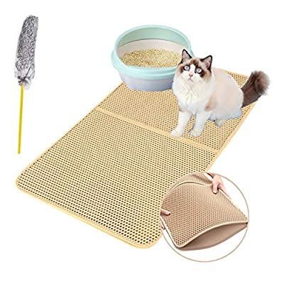 """Authda Cat Litter Mat with Cat Toy 