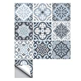 Vrttlkkfe 10 unids estilo mediterráneo etiqueta de la pared impermeable PVC adhesivo azulejo etiqueta autoadhesiva fondos de pantalla decoración del hogar 20x20cm