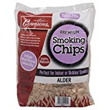 Camerons Products Smoking Chips - (Alder) 260 cu. in. (0.004m³) - Kiln Dried, Natural Extra Fine Wood Smoker Sawdust Shavings - 2 Pound Bag Barbecue Chips