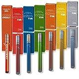 Ezee Fun Cigarette Électronique Jetable 7 parfums différents Sans Nicotine Ni Tabac E-Cigarette Souple Batterie 285mAh Paquet de 7