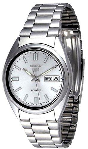 Seiko Herren Analog Automatik Uhr mit Edelstahl Armband SNXS73K1