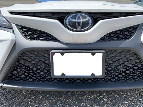 TN TrunkNets Inc A NASA-Like Rubber Front License Plate Frame Tag Holder Guard Bumper for Toyota