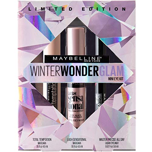 Maybelline Winter Wonderglam Mini Mascaras and Eyeliner Kit, 3 Count