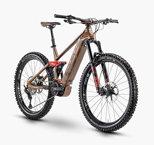 Pexco Husqvarna Mountain Cross 7 Shimano Steps Fullsuspension Elektro Mountain Bike 2020 (44cm, Bronze/Red)